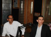 Representantes de la fundación en el programa radial.